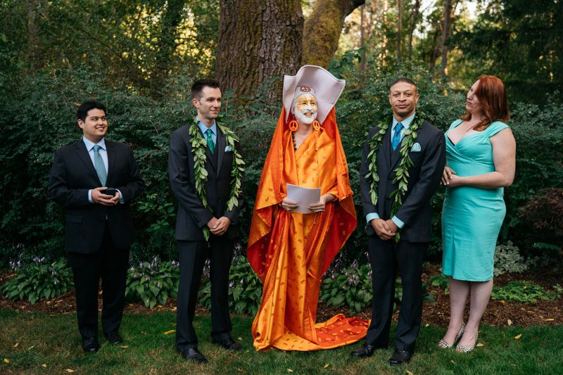 A wedding in Washington with Sister Unity officiating