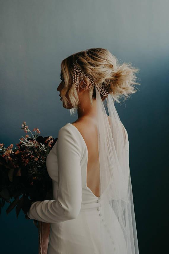 What's new & chic in alternative wedding veils?