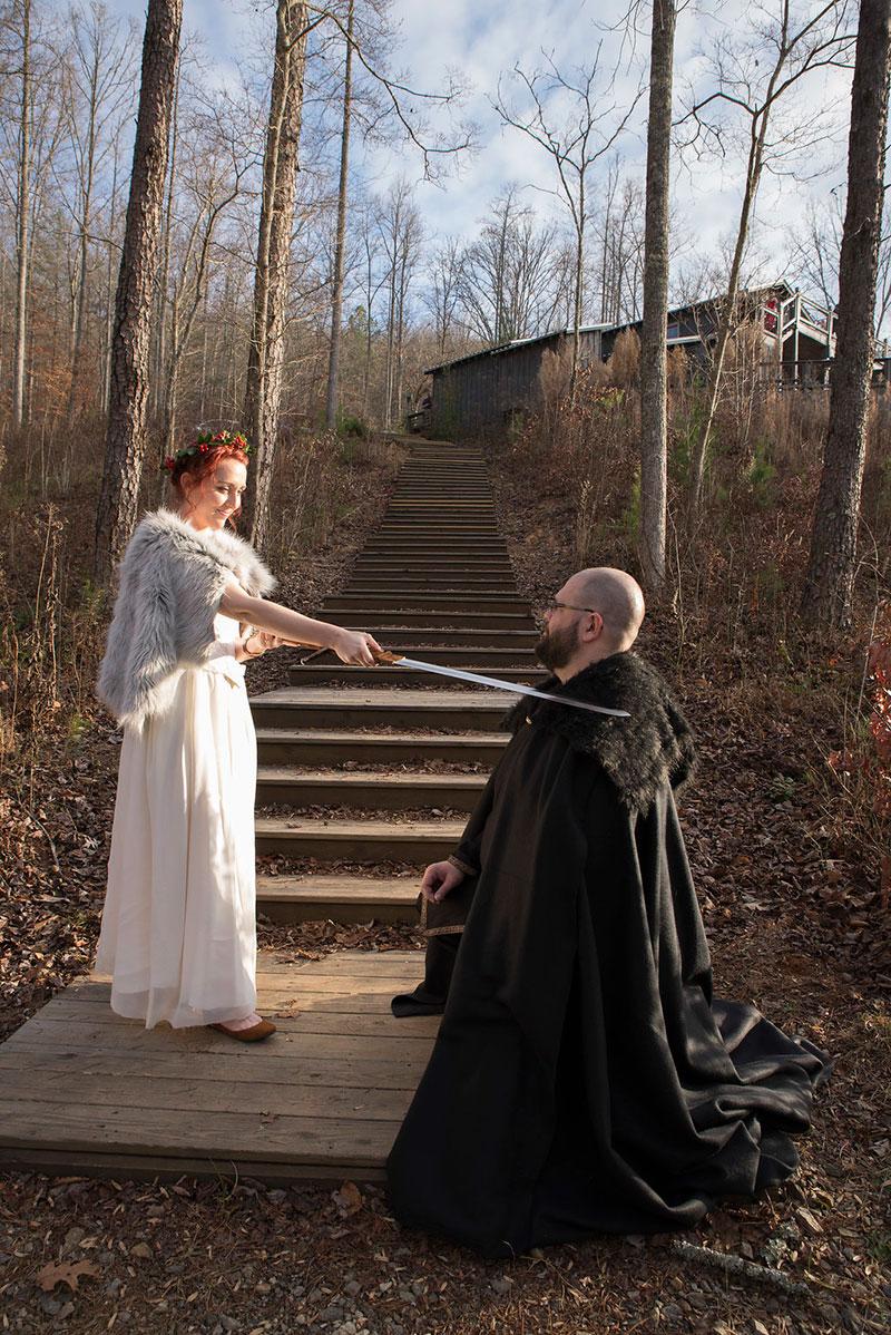 Winter is coming: a Game of Thrones winter wedding in Atlanta