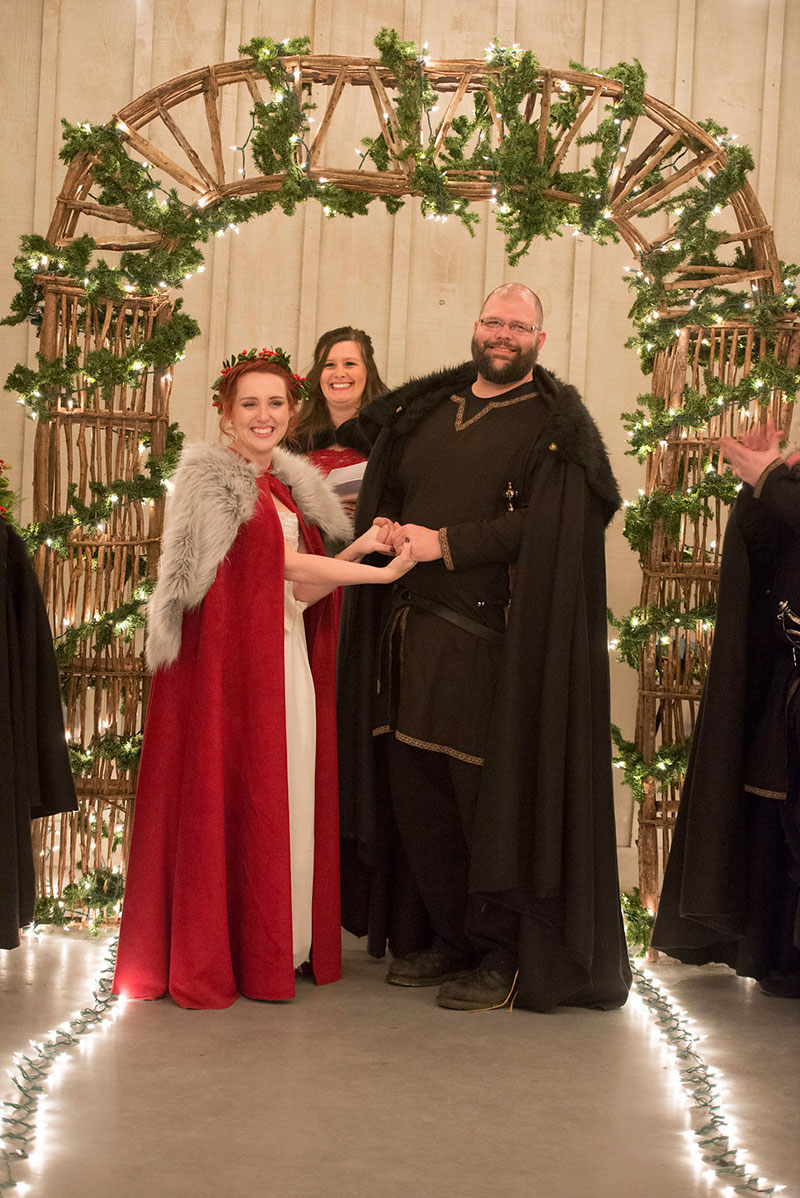 Winter is coming: a Game of Thrones-inspired winter wedding in Atlanta