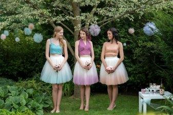 Blushing ballerina skirts by Wardrobe By Dulcinea
