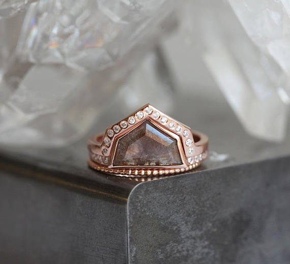Angling for the most stunning geometric engagement rings we could find