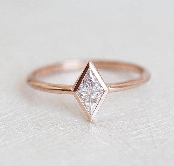 Angling for the most stunning geometric wedding rings we could find