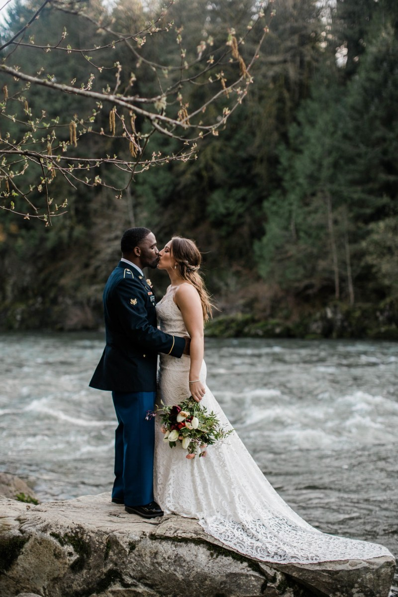 This stunning Snoqualmie Falls elopement was a long wait from two continents away