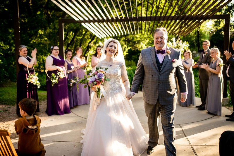 So much magic at this butterfly themed wedding in a sculpture garden