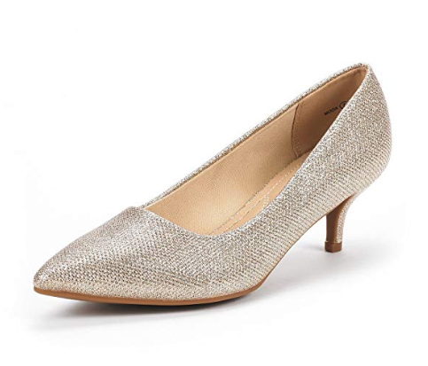Wedding shoes with very low heels