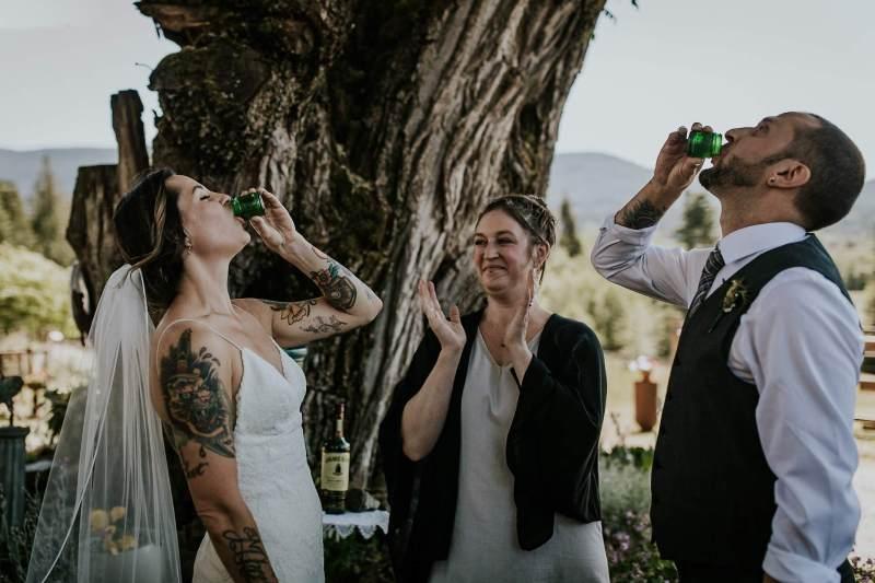 West Coast elegance meets vintage kitsch at this Canadian camp wedding