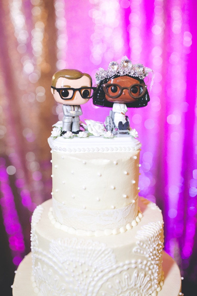 Old Hollywood glittery glam reigns at this theater wedding