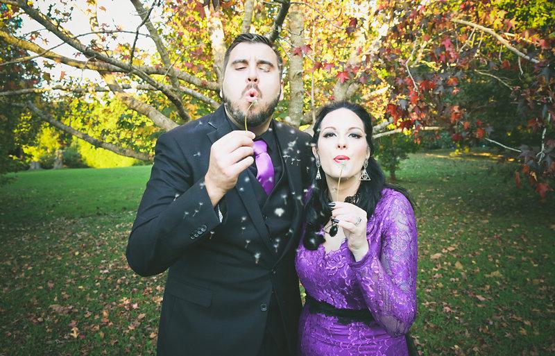It's Halloween meets Hogwarts at this Australian Mount Tambourine wedding