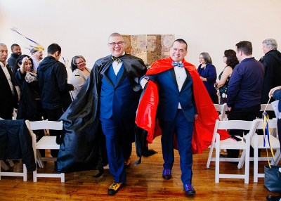 Heroes in love: a comic book themed microwedding in Chicago