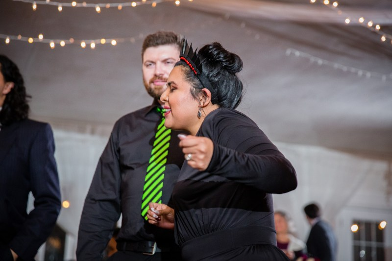 """A most """"strange and unusual"""" Beetlejuice wedding (officiated by Miss Argentina!)"""