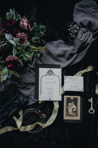 Venus flytraps and forever love at this haunting inspiration wedding