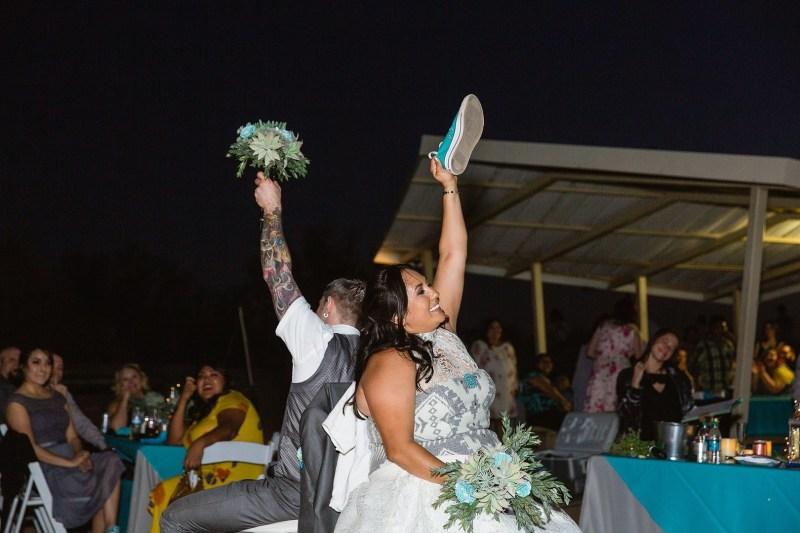 A magical blend of cultures: a Navajo Irish mountain wedding meets Star Wars