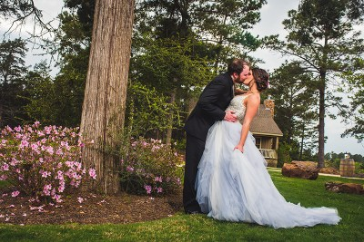 The Iron Throne and flowers for days at this romantic enchanted Texas wedding