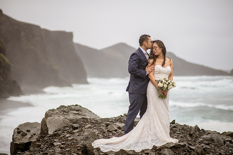 It poured at this rainy Iceland wedding and we wouldn't want it any other way