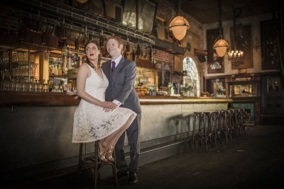 A rustic saloon wedding at a bayou style saloon in Hollywood