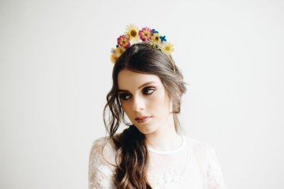 dried flower crowns | preserved flower crowns | flower tiara | boho wedding crown