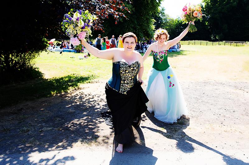 Our big gay pagan rainbow woodland festival wedding