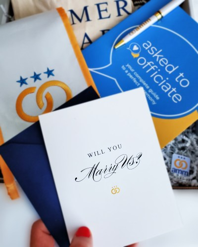"""""""Will you marry us?"""" Here's the VIP way to ask your friend to be your wedding officiant (and get ordained!)"""