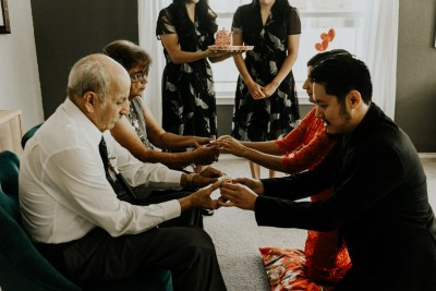 An eclectic ZaZa Gardens wedding that beautifully merged two cultures & families