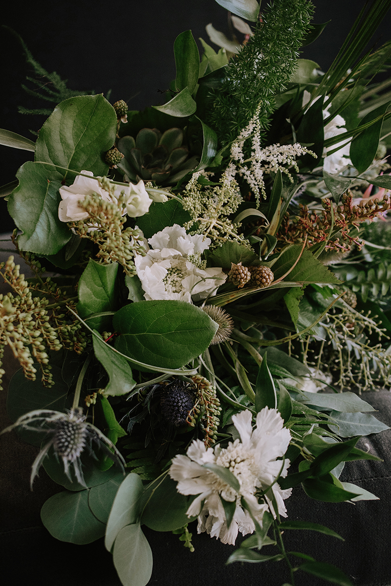 Kilts, scotch, & lush greenery reign at this Denver art gallery wedding