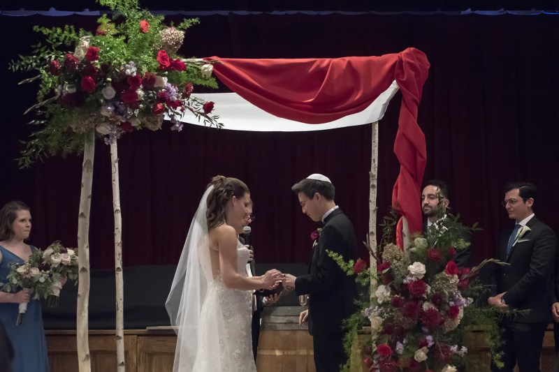 A NYC winery wedding with Chinese and Jewish traditions and a dog ring bearer
