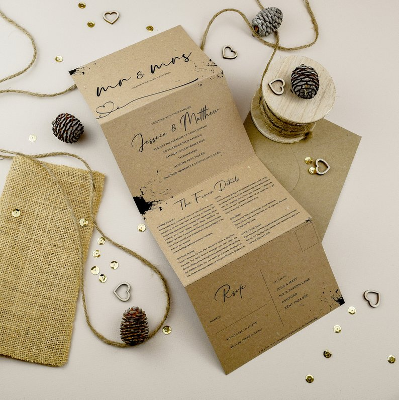 Get serene vibes with these pared down, boho wedding theme details