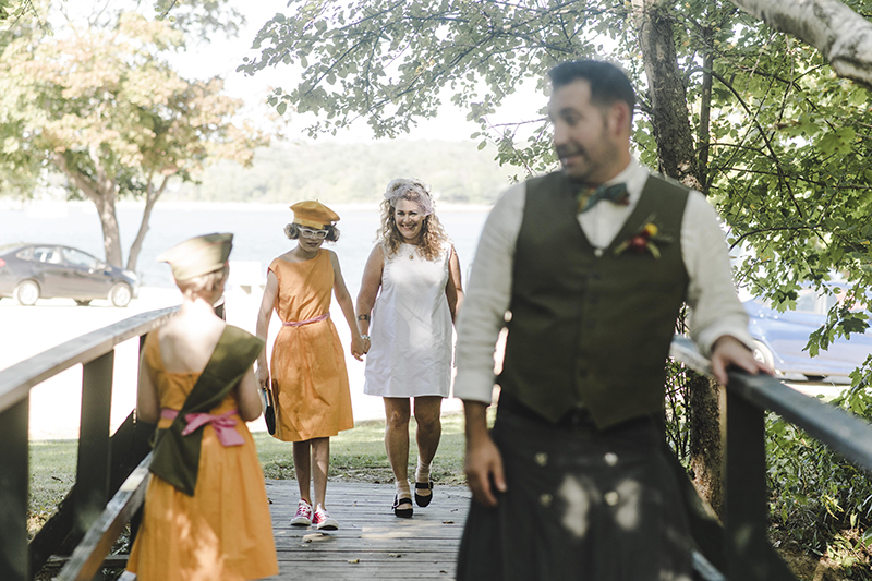A quirky retro Moonrise Kingdom-inspired family centric wedding