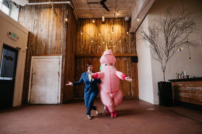 Don your wings & feathers for this whimsical animal menagerie wedding (with a unicorn first look!)