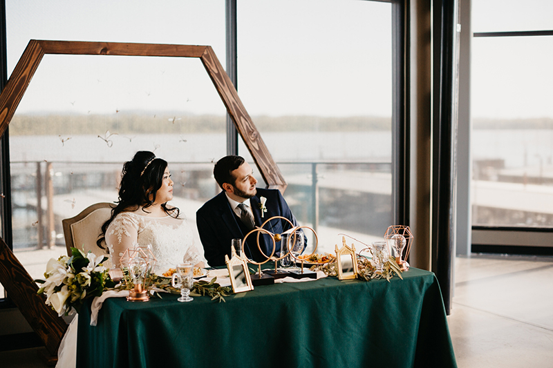 Spot all the magical Wizarding World details at this herbology-themed wedding
