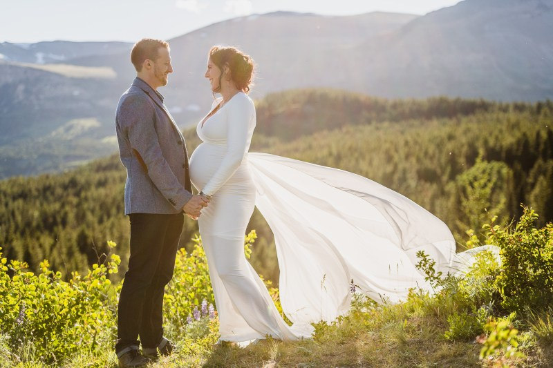 A soon-to-be mama & her handsome groom elope in the mountains of Glacier National Park