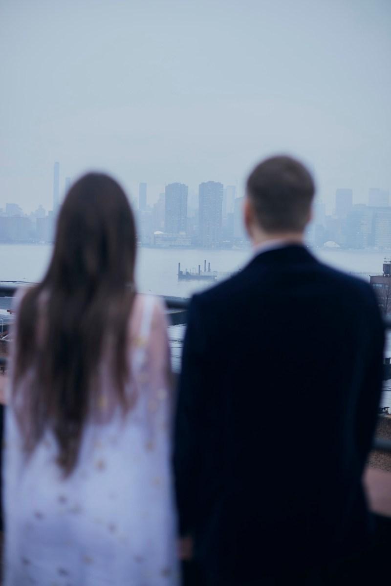 This chic Brooklyn wedding had a tattoo artist & tarot reader