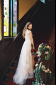affordable ruolai wedding gown on offbeat bride