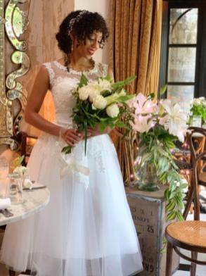 sheer vintage wedding dress on offbeat bride