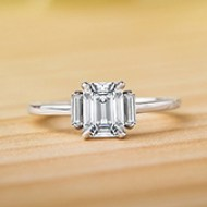 Fancy Halo Diamond Ring with Side Stones