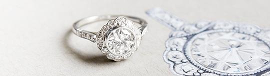 Custom design engagement rings