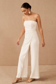 BHLDN wedding jumpsuit on Offbeat Bride