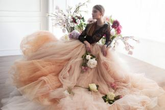 MywonyBridal blush wedding dress on offbeat bride