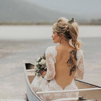 PolinaIvanova backless wedding dress on offbeat bride