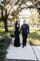 PolinaIvanova black wedding dress on offbeat bride