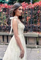 PolinaIvanova gold wedding dress on offbeat bride