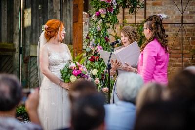 Vibrant, whimsical, & vintage vibes abound at this Blumen Gardens wedding