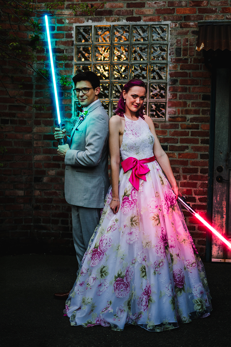 Wait until you see the interactive puzzle game at this books & RPG wedding