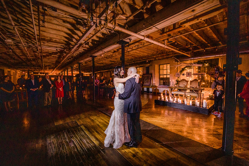 Lightsabers and Westeros meet at this eclectic warehouse wedding