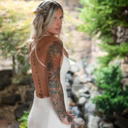 beautiful bride at stone ridge estates wedding venue