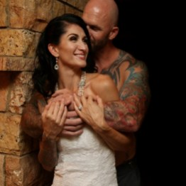 gorgeous couple stone ridge wedding venue