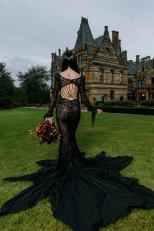 black wedding dress by peony and lace on offbeat bride