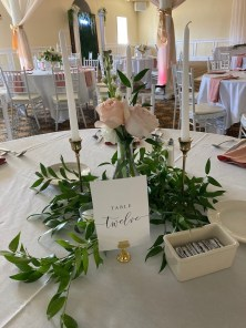 Atypical Events peach & gold table