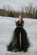 goth wedding dress by sweetcarolinestyles on offbeat bride
