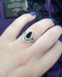 Halloween wedding ring from Sapphire Studios